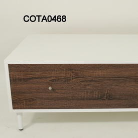 119Cm X59Cm White &3 Tone Wood 1 Drawer 1 Door Vmf Patchwork Coffee Table