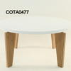 Circ White Top Oak Base Tema Coffee Table