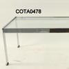 114 X 45 Cm Chrome And Glass Merrow C Table