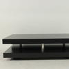 120 Cm X 70 Cm Black Ash 2 Tier Vmf Coffee Table