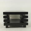 70 Cm X 70 Cm Chunky  Black Ash 2 Tier Vm Offee Table
