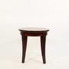 Vma Mahogany Circular Coffee Table With Black Line Inset Top