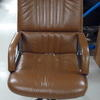 High Back Brown Leather 'guam' Desk Chair On Castors