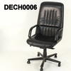 High Back Black Leather & Frame 'guam' Desk Chair On Castors