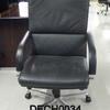 B Optima Black Hide High Back Executive Chair