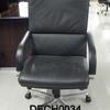 B Optima Black Hide High Back Executive Chair