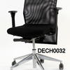 B Trim Black Mesh Back Swivel Chair