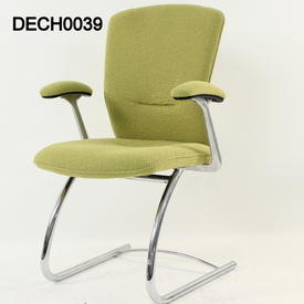 B Kite Pale Green Fabric Cantilever Elbow Chair