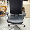 Black Leather B Sona Swivel Chair With Arms