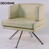 B G Four Leg White Swivel Chair