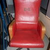 Courts Judges Red & Beech Trim Hi Back Swivel Chair
