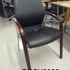 Verc Black Lea & Rosewood Visitor Chair