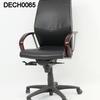 Verc Black Lea & Rosewood Lo Swivel Desk Chair