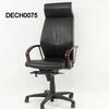 Verc Black Lea & Rosewood Hi Swivel Desk Chair