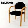 Black Fabric/Beech Elbow Visitors Chair
