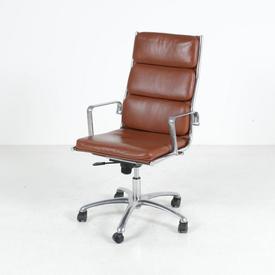 Luxy Italia Tan & Chrome Soft Pad High Back Executive Chair