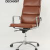 Luxy Italia Tan & Chrome Soft Pad High Back Executive Chair