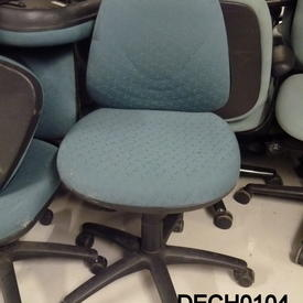 Herman Miller Green Pattern Fabric Occasional Typist Chair