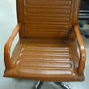 Mariani Tan Hide Square Back Ribbed Swivel Visitors Chair