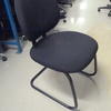 Black Fabric & Cantilever Occasional Visitors Chair