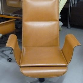 Mariani Wing Natural Tan Hide High Back Executive Chair