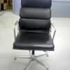 Vitra Eames Black Soft Pad High Back Swivel Chair