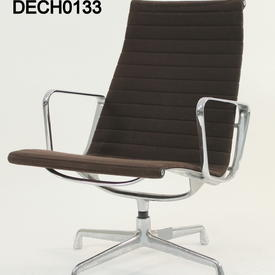 Vitra Eames Brown Ribbed Fabric Lounge Chair