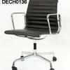 Vitra Eames Ea117 Black Hide Low Back Executive Chair