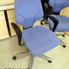 Giroflex Pale Blue Fabric Swivel Chair