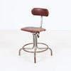 50's Dark Red Tatty Vinyl Occ Typist Chair