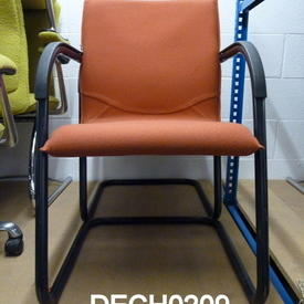 Tan Fabric/Black Elbow Ahrend Visitor Chair