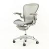 Pale Grey Frame Platinum Mesh Aeron Swivel Elbow Chair