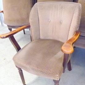 Holmes Mink & Brown Pattern Draylon Elbow Tub Chair