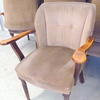Holmes Mink & Brown Pattern Draylon Elbow Tub Chair