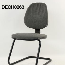 Grey Fabric/Black Cantilever Frame Visitor Chair