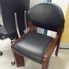 Black Vinyl Rosewood Leg  Occasional Visitors Cchair