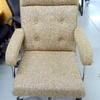 Oatmeal Fabric Buttoned High Back 'pieff' Style Swivel Chair
