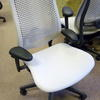 Off White/Grey  Miller Cella Operator  Chair On Castors