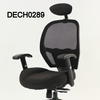 Black Fabric & Mesh Low Back Executive Chair With Headrest