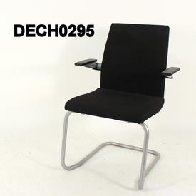 Black Fabric Sedus Yeah Cantilever Visitors  Chair