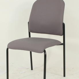 Grey Fabric Black Frame Mkb Occasional Visitors Chair
