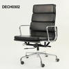 Black Leather And Chrome High Back Softpad Executive Chair