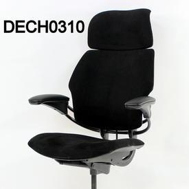 'Hscale' Black Sensuede High Back Swivel Executive Chair
