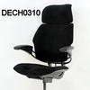 'hscale' Black Sensuede High Back Swivel Executive Chair