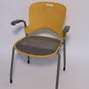 Yellow Perforated Back Miller 'caper' Elbow Chair