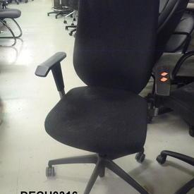 Charcoal Grey Fabric/Grey Plastic Arm Swivel Desk Chair