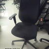 Charcoal Grey Fabric/Grey Plastic Arm Swivel Desk Chair