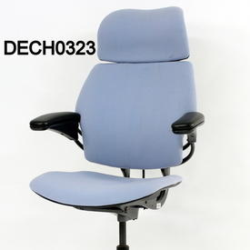 'Hscale' Pale Blue Fabric High Back Swivel Executive Chair