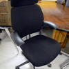 'hscale' Black Fabric High Back Swivel Executive Chair