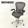 Dark Grey Frame Platinum Or Grey Mesh Aeron Wave Swivel Elbow Chair